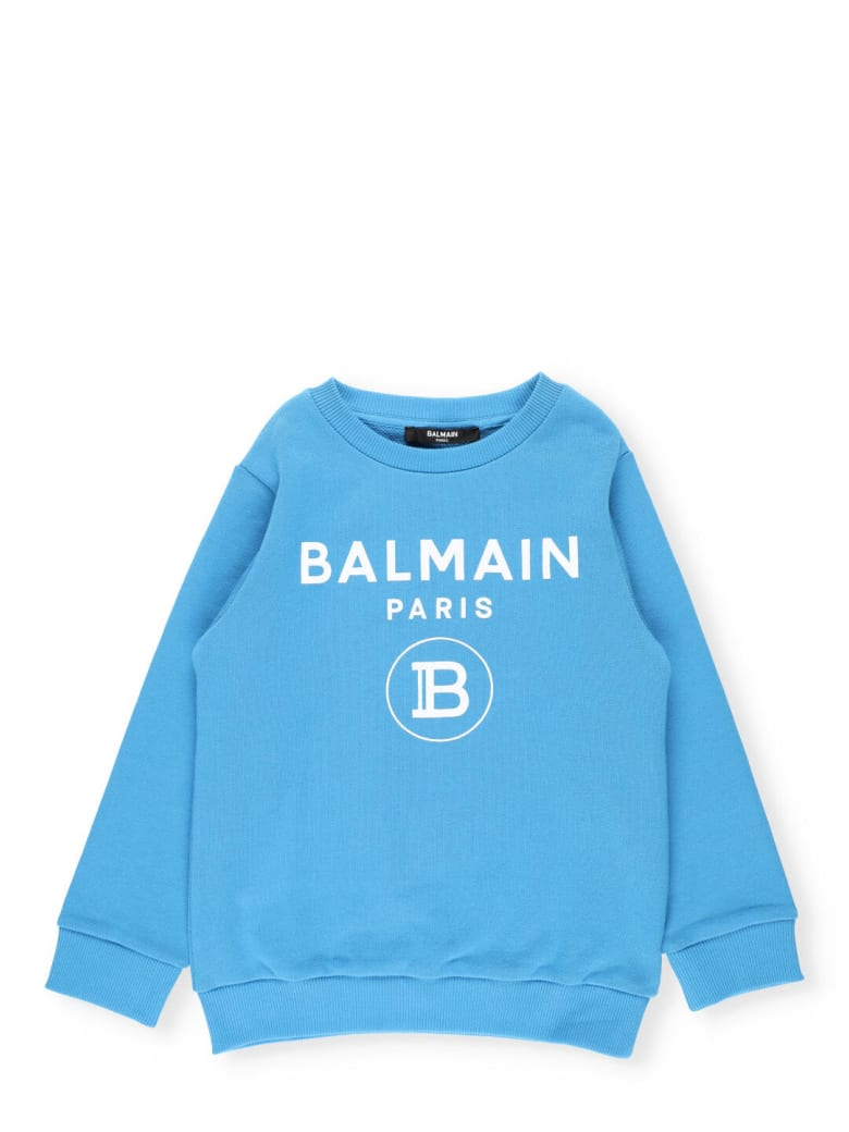 Balmain Cotton Sweatshirt - Turchese
