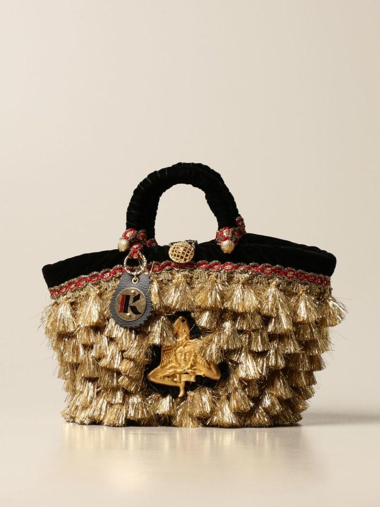 Sikuly Handbag Dalia Sikuly Coffa Bag With Lurex Multi Tassels - Multicolor