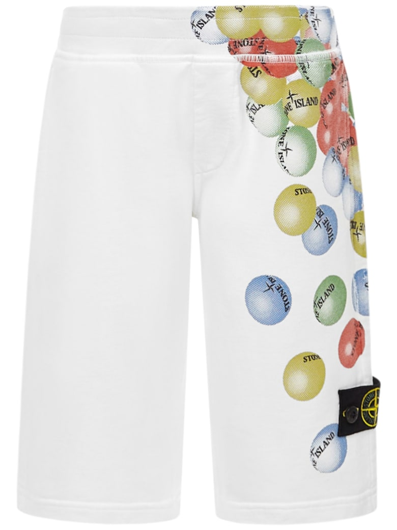 Stone Island Junior Shorts - White