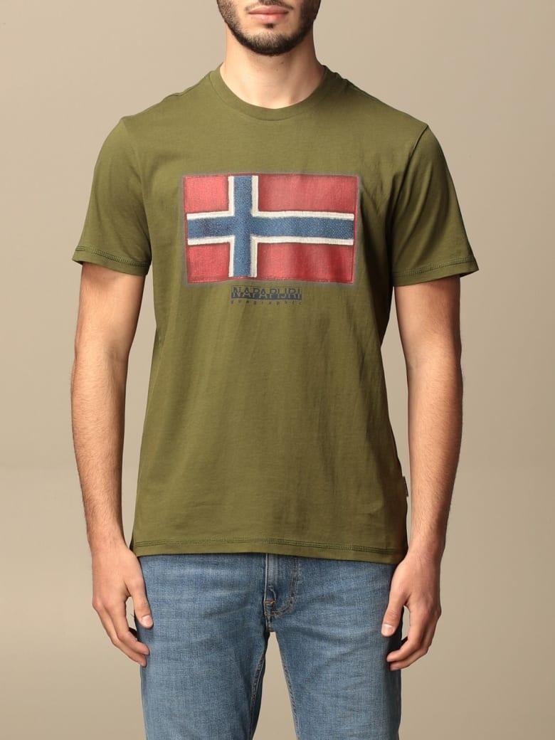 Napapijri T-shirt Sirol Napapijri T-shirt In Cotton With Print - Kaki