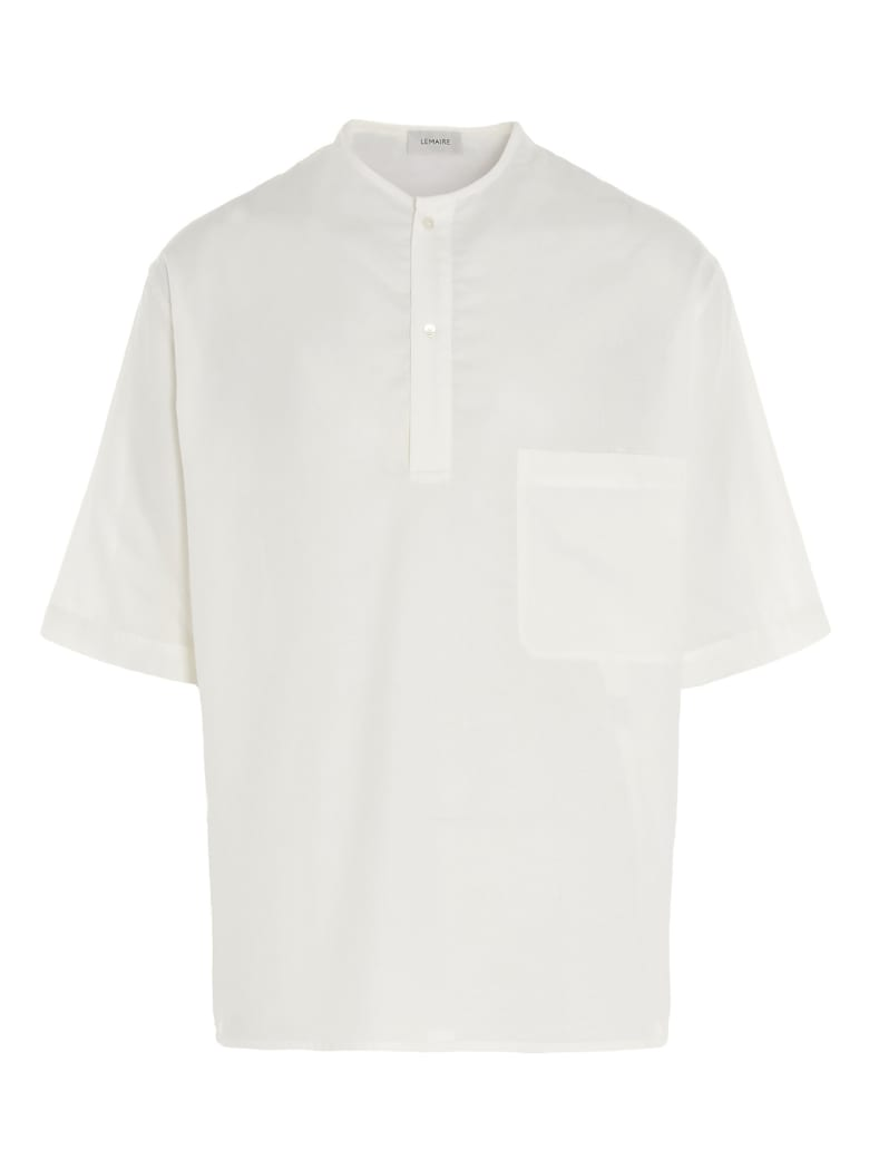 Lemaire 'henley Top' T-shirt - White
