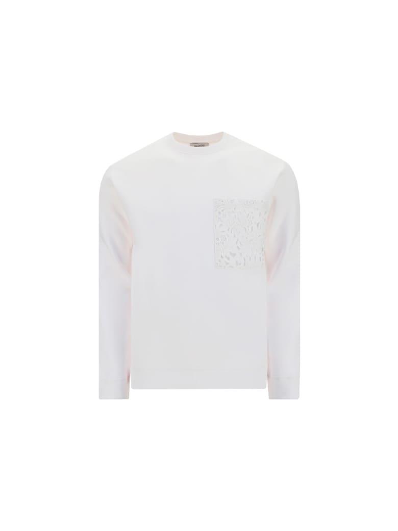 Valentino Sweatshirt - Bianco/rosso