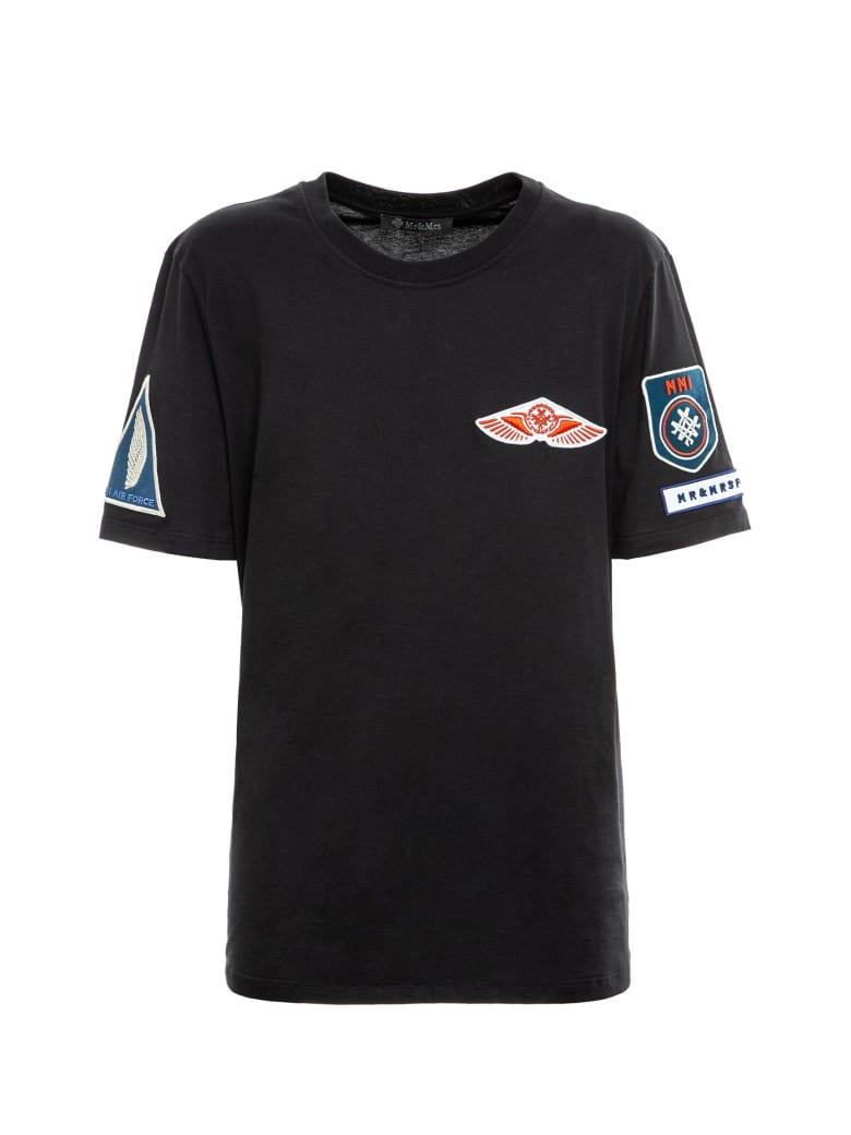 Mr & Mrs Italy Avio-inspired Regular T-shirt For Man - BLACK