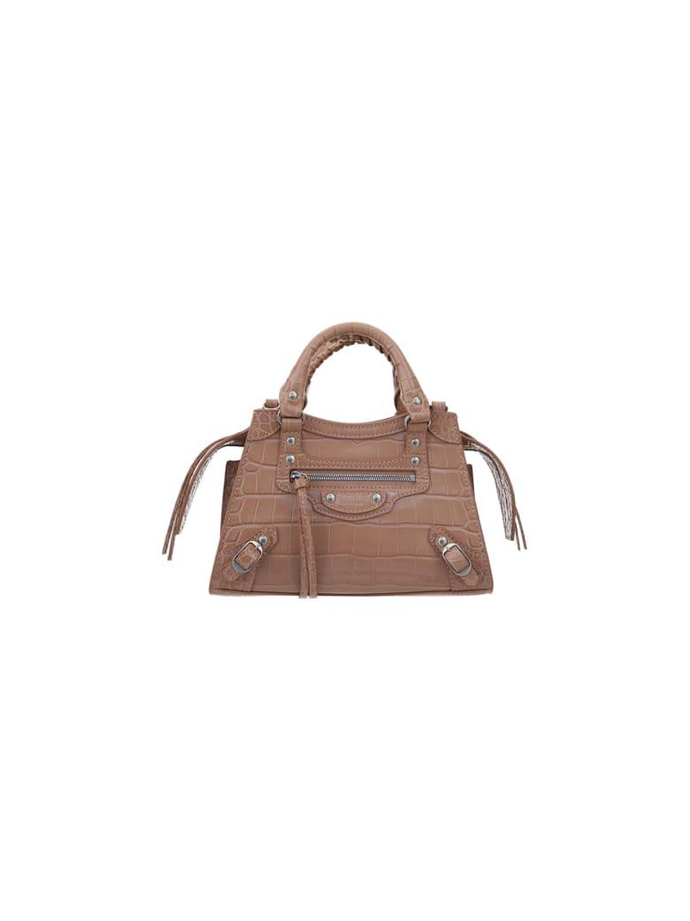 Balenciaga Mini Neo Classic Handbag - Nude beige