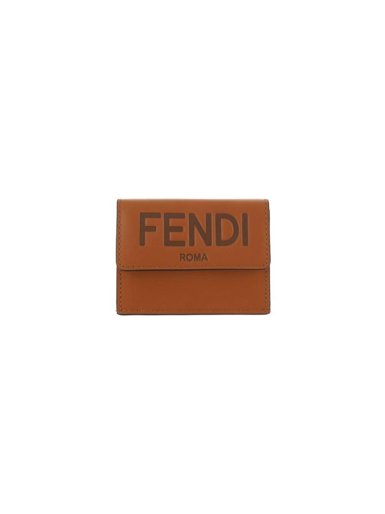 Fendi Wallet - Cuoio+oro soft