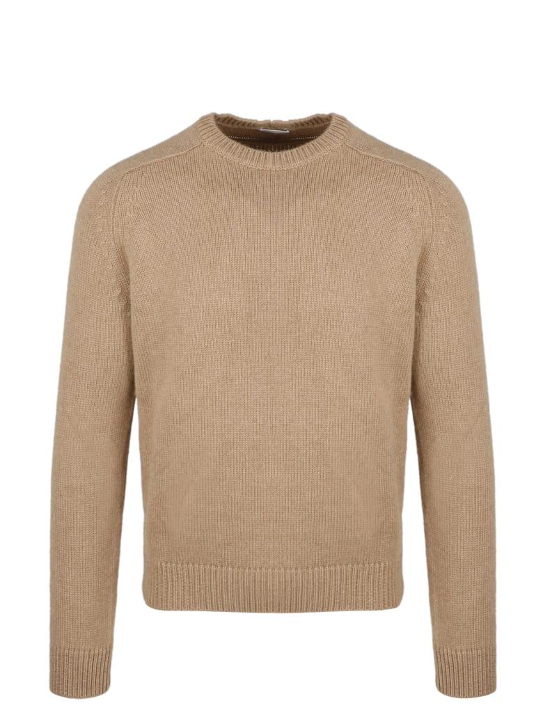 Saint Laurent Crew Neck Sweater - Brown