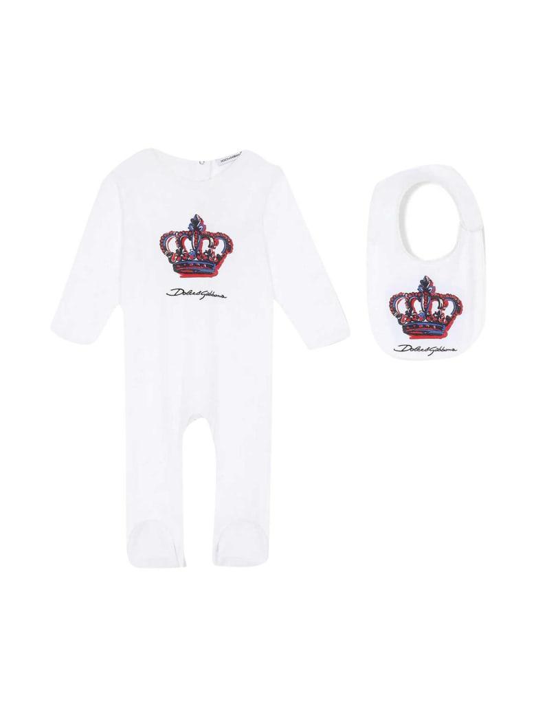 Dolce & Gabbana Newborn White Onesie - Bianco