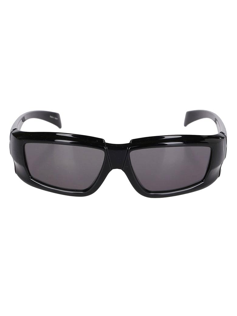 Rick Owens Black Nylon Sunglasses - Black