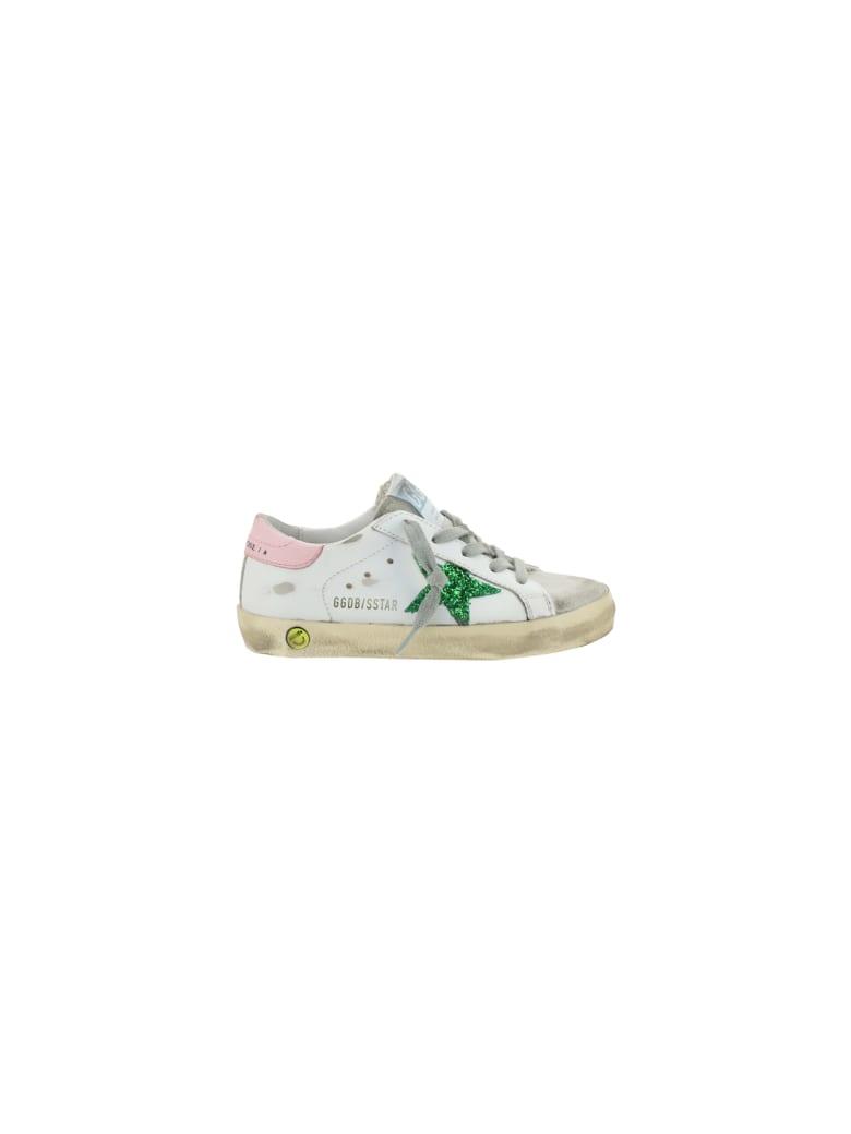 Golden Goose Superstar Sneakers For Girl - White/emerald