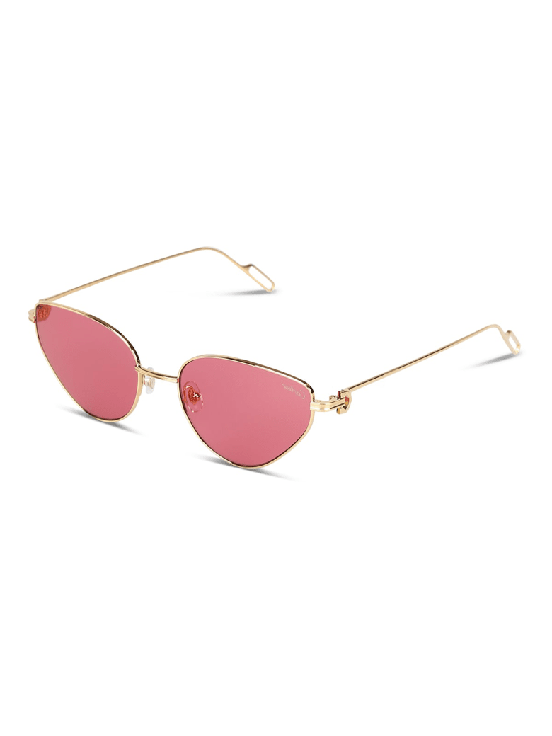 Cartier Eyewear CT0155S Sunglasses - Gold Gold Red