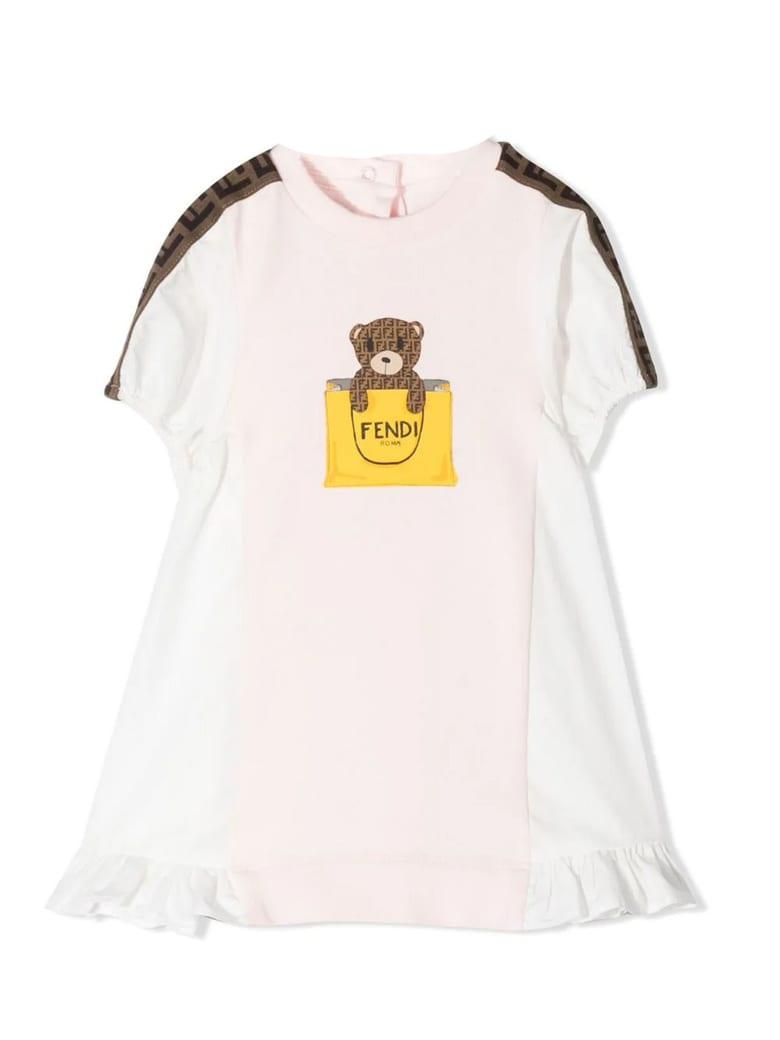 Fendi Pink Cotton-blend Dress - Rosa