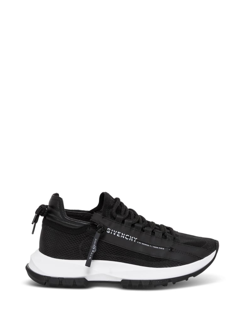 Givenchy Specter Low Leather And Mesh Sneakers With Zip - Black