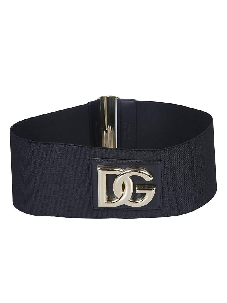 Dolce & Gabbana Logo Patch Belt - Black