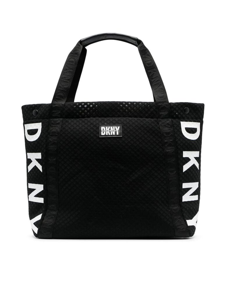 DKNY Black Logo Print Tote Bag - Nero