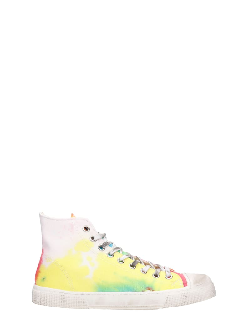 Gienchi J.m High Sneakers In Multicolor Canvas - multicolor