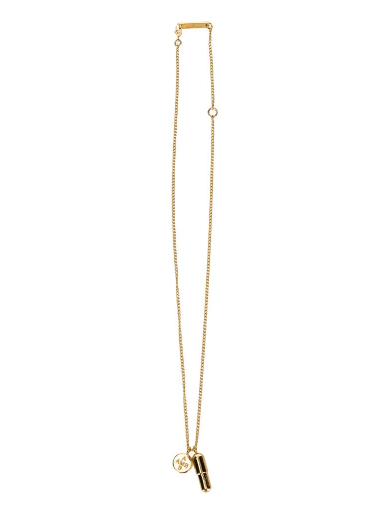 AMBUSH Pill Charm Necklace - GOLD