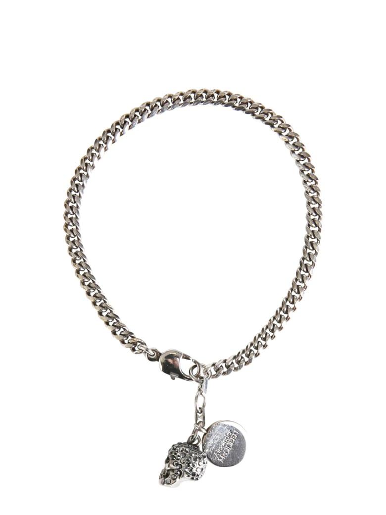 Alexander McQueen Pavè Skull Bracelet - ARGENTO