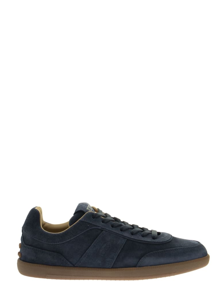 Tod's Sneakers In Suede - Blue