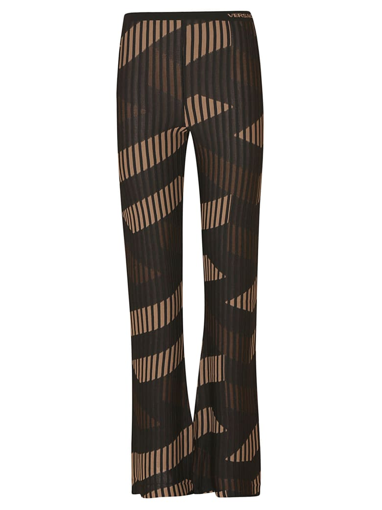 Versace Ribbed Knit Skirt - Caramel