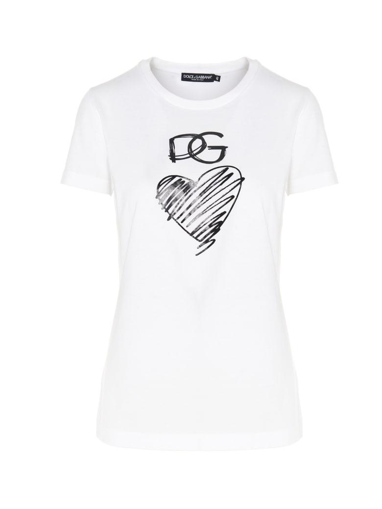 Dolce & Gabbana 'dg Cuore' T-shirt - White
