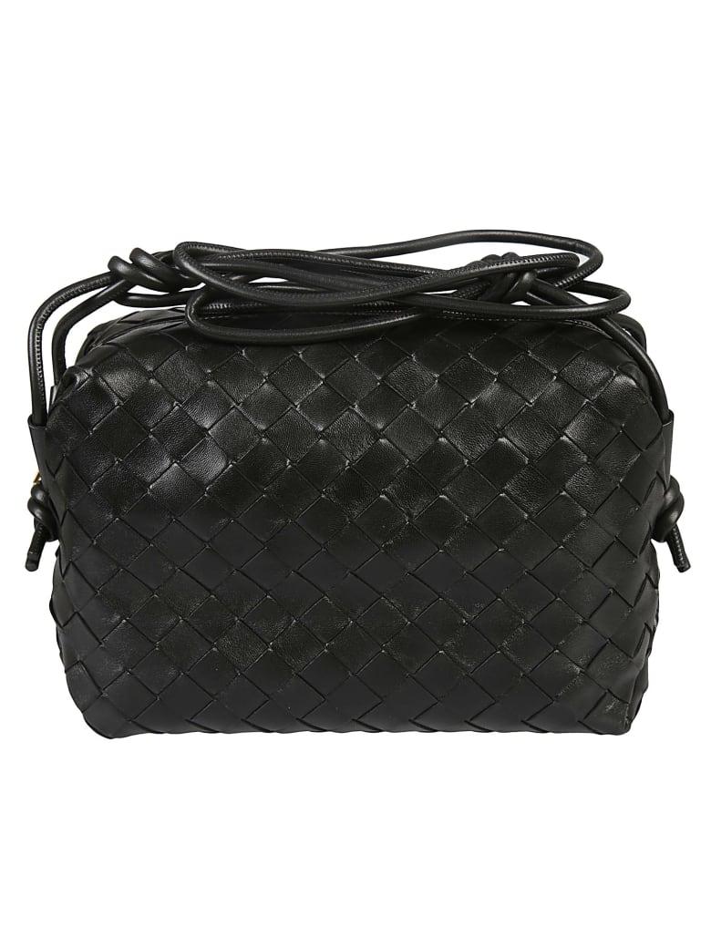 Bottega Veneta Mini Weave Shoulder Bag - Black/Gold