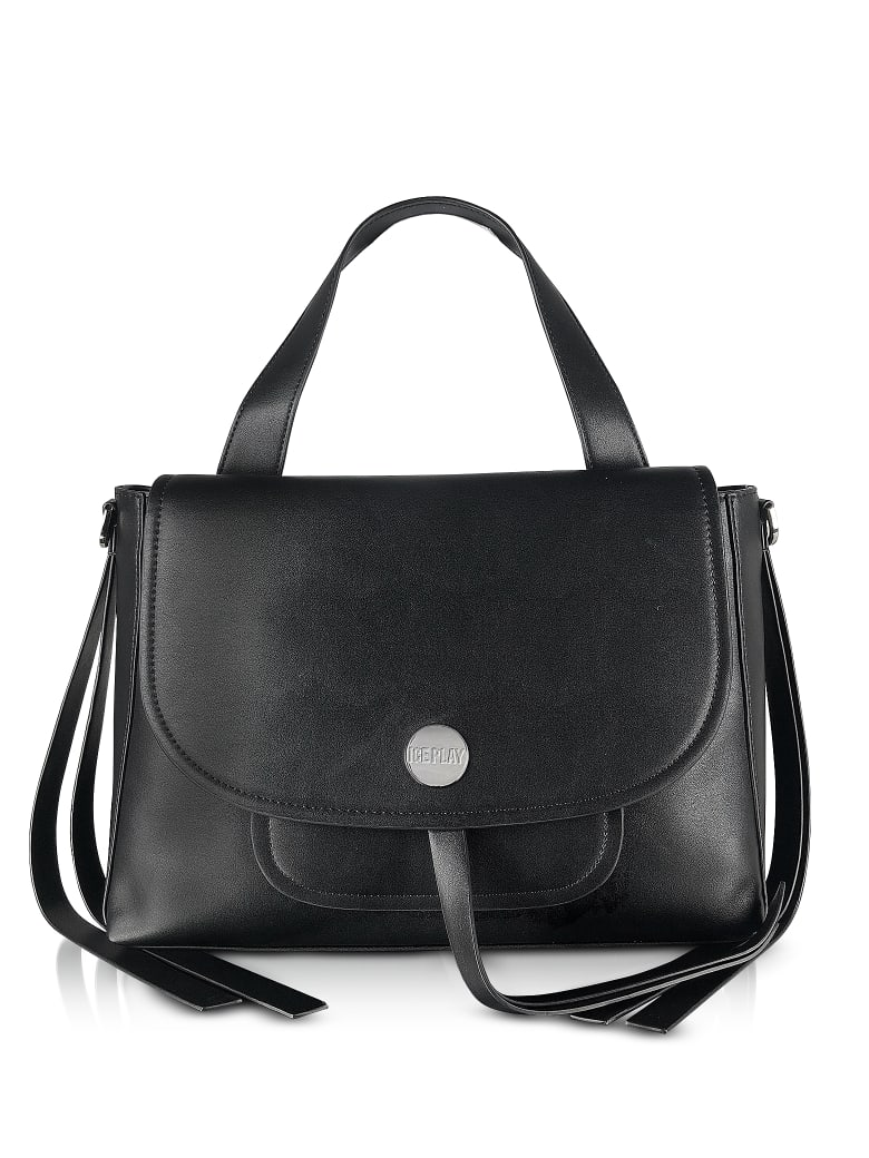 Ice Iceberg Ice Play Flap Top Satchel Bag - Black