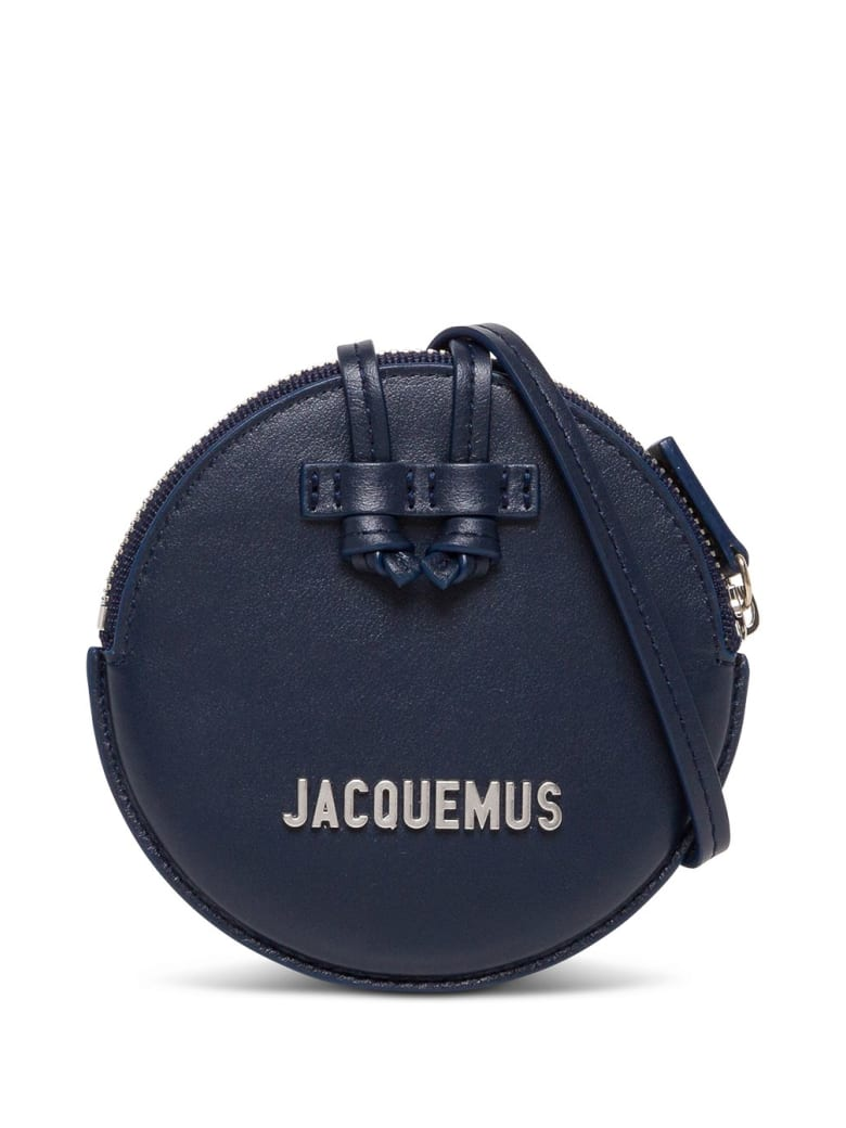 Jacquemus Le Pitchou Crossbody Bag In Blue Leather - Blu