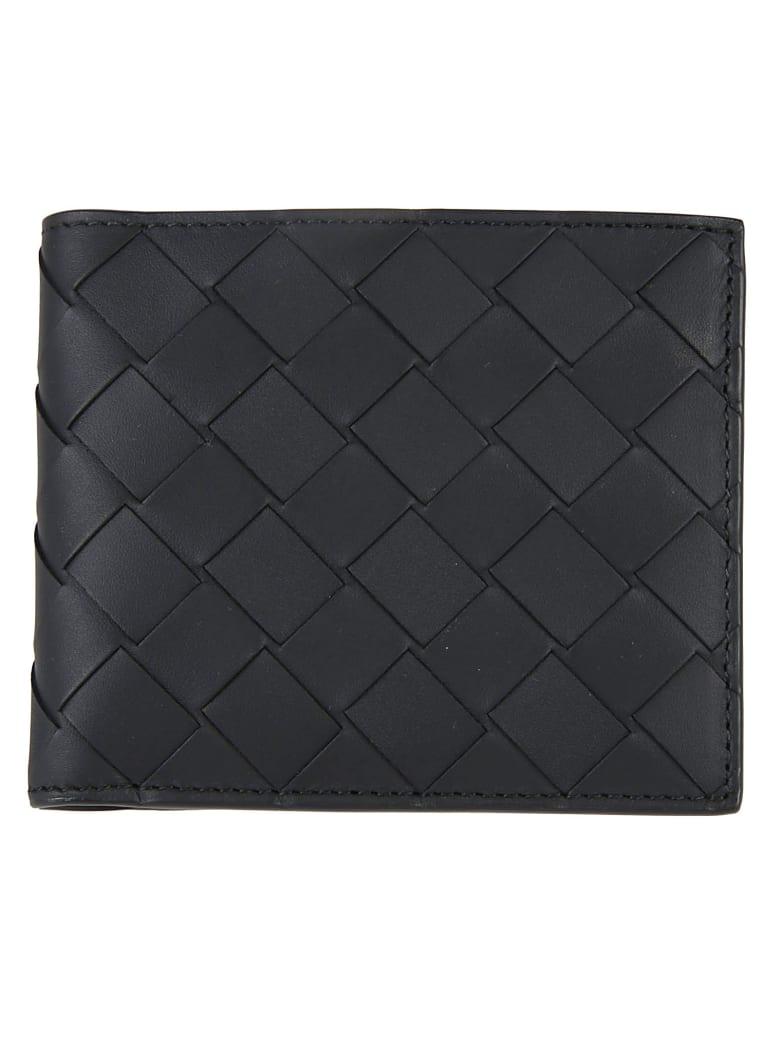 Bottega Veneta Woven Billfold Wallet - Black/Silver