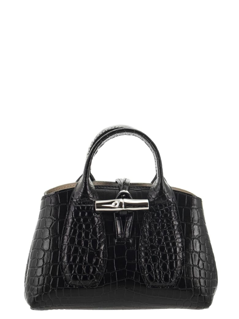 Longchamp Roseau - Bag With Xs Handle - Black
