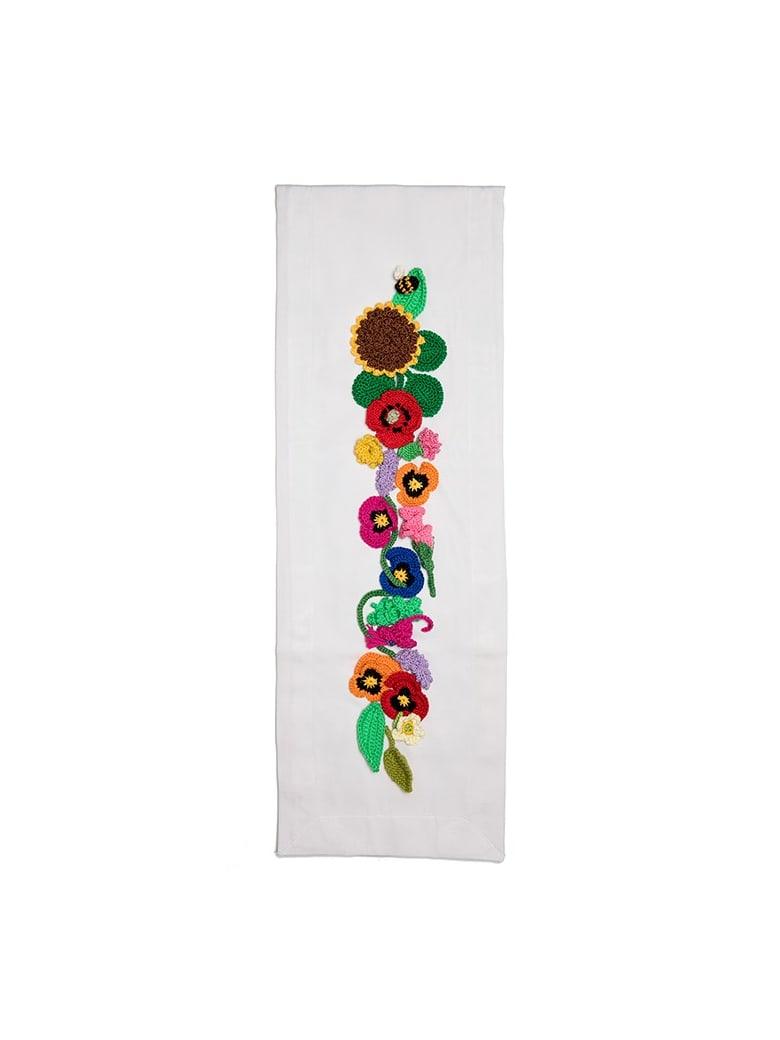 Le Botteghe su Gologone Runner Crochet 130x50 Cm - White