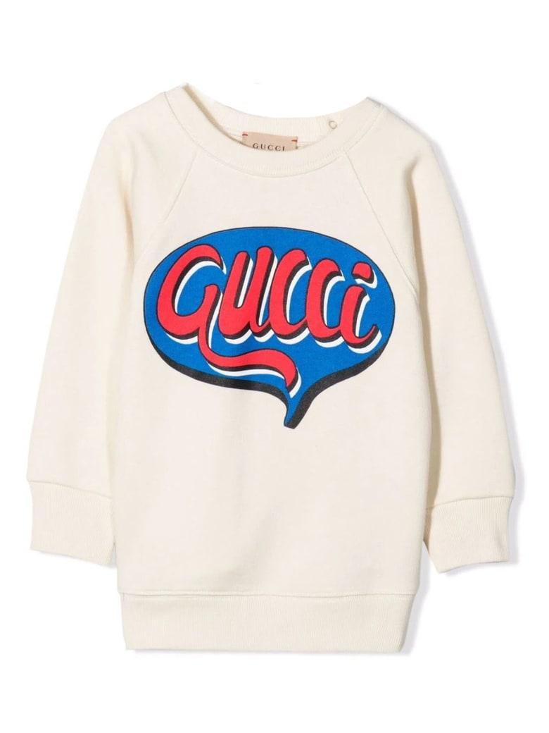Gucci Baby Gucci Comics Cotton Sweatshirt - Panna