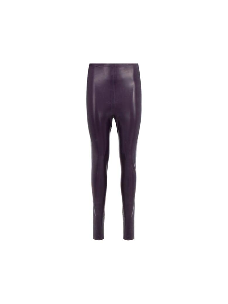 Saint Laurent Latex Pants - Purple
