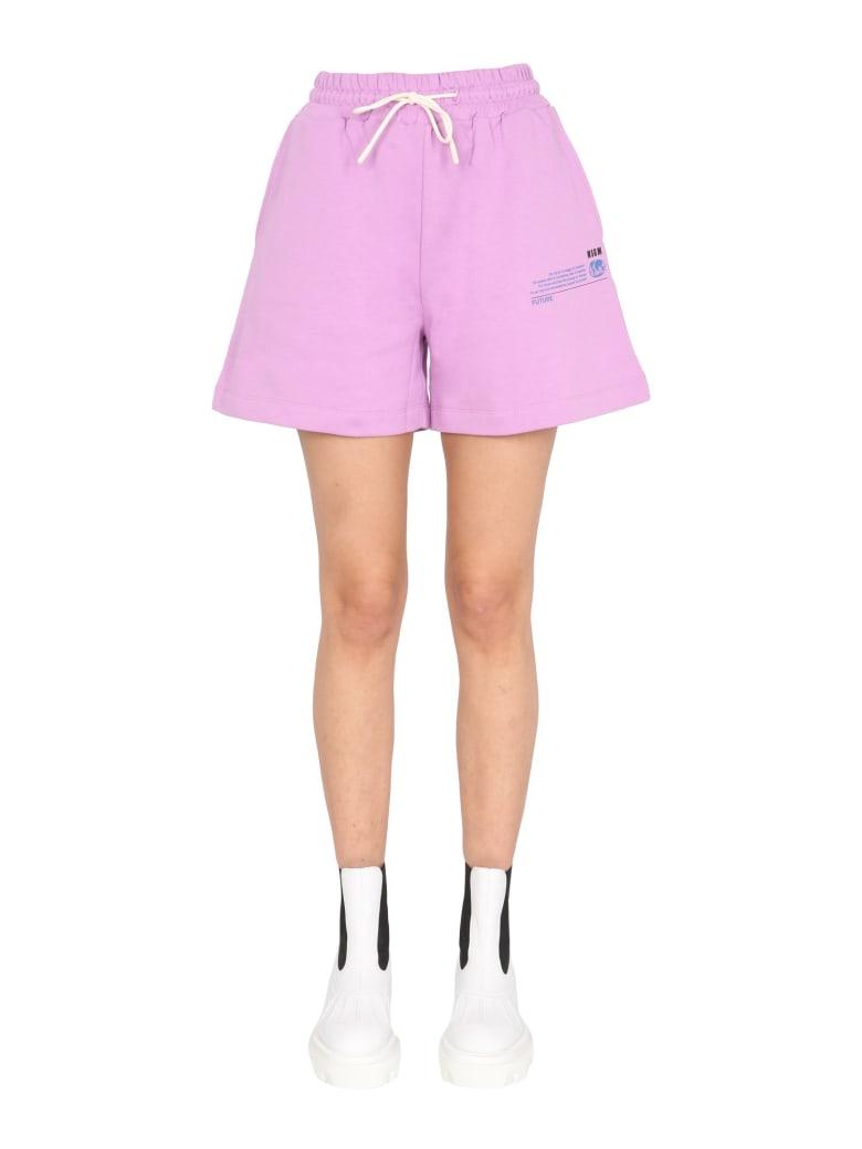 MSGM Cotton Shorts - Rosa