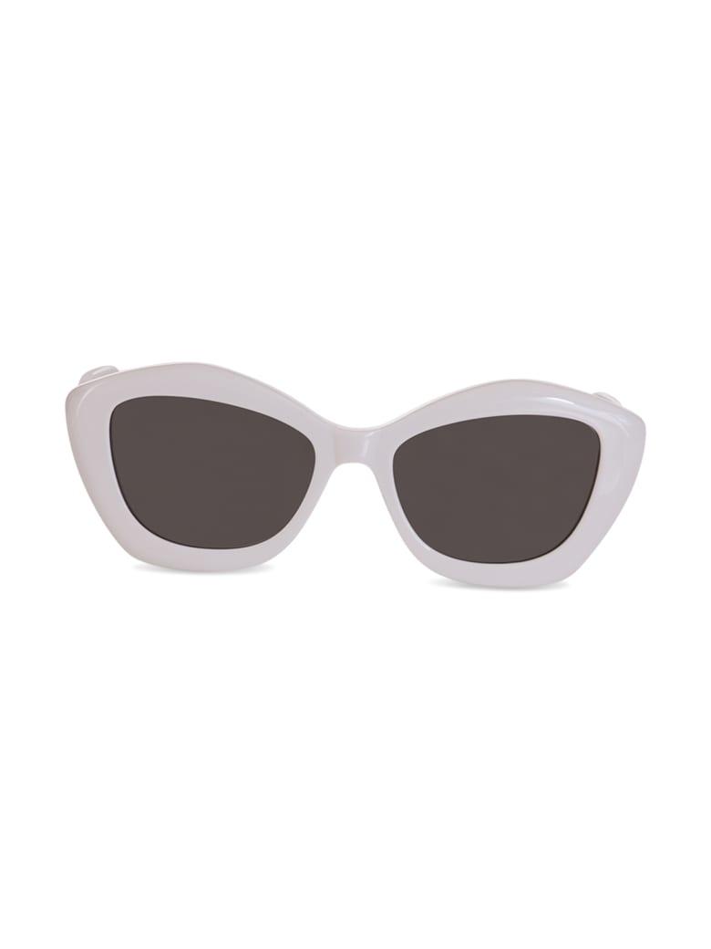 Saint Laurent Cat-eye Frame Unglasses - BIANCO