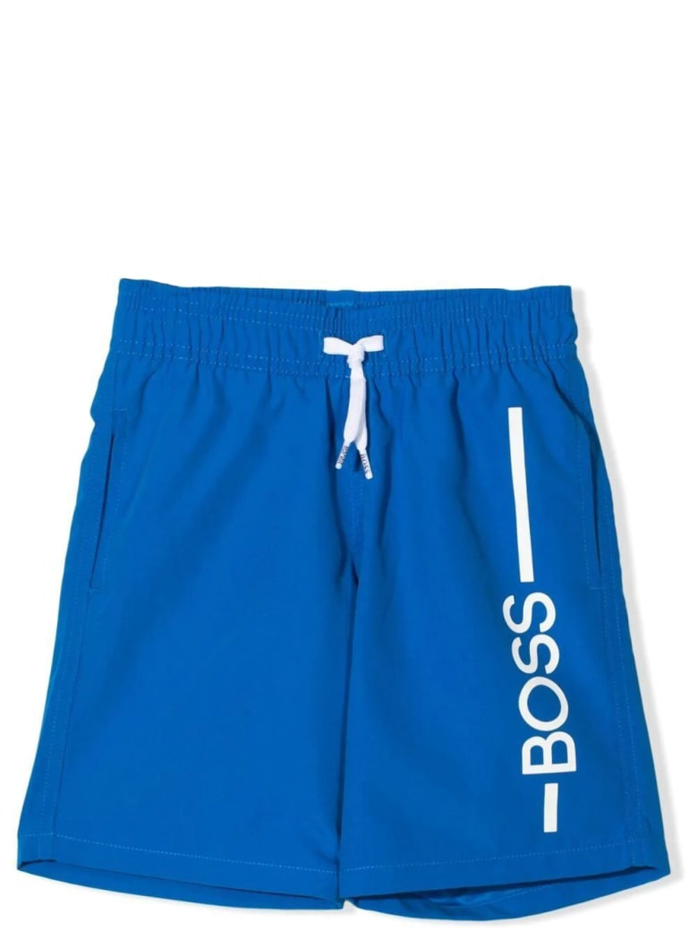 Hugo Boss Swimsuit With Print - Blue