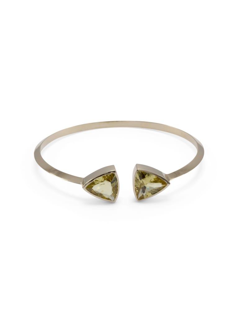 Lo Spazio Jewelry Lo Spazio Yellow Beryl Bangle - Yellow