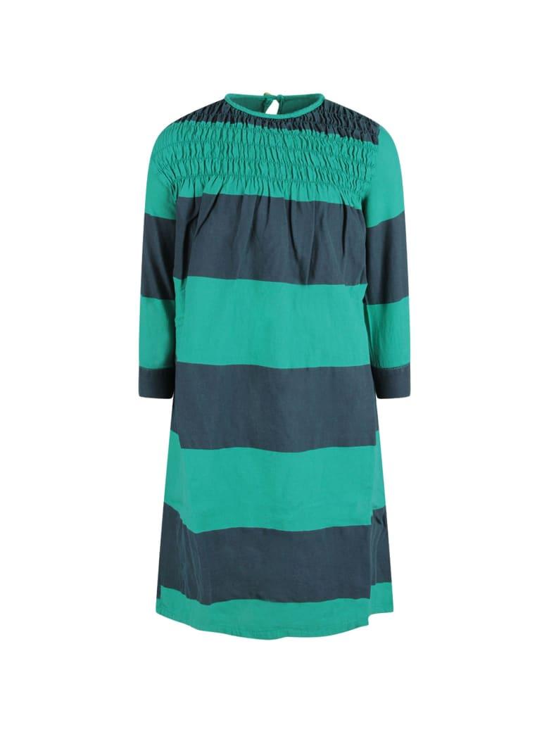 Bobo Choses Green Striped Girl Dress - Green