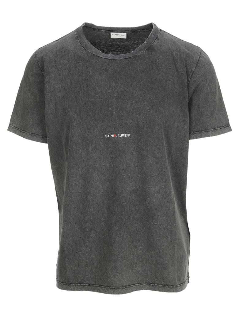 Saint Laurent Logo T-shirt - FADED BLACK