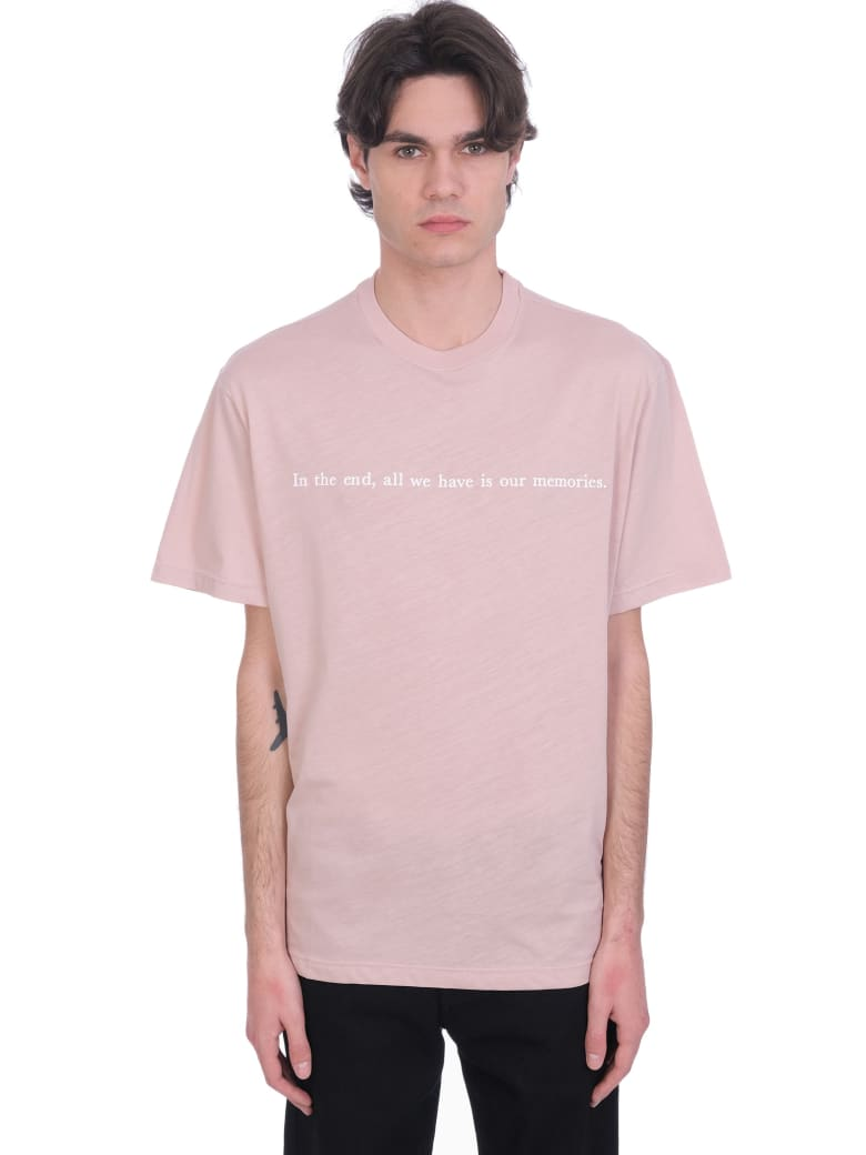 Throwback T-shirt In Rose-pink Cotton - rose-pink