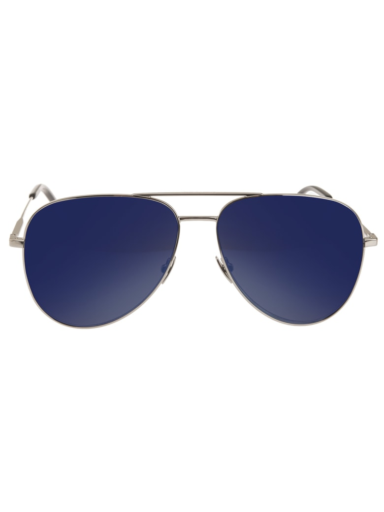 Saint Laurent Classic 11 Sunglasses With Blue Lenses - Blue sky