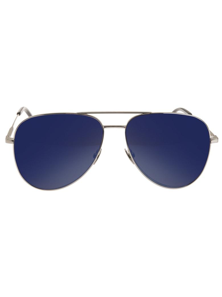 Saint Laurent Classic 11 Sunglasses With Blue Lenses - Blue sky
