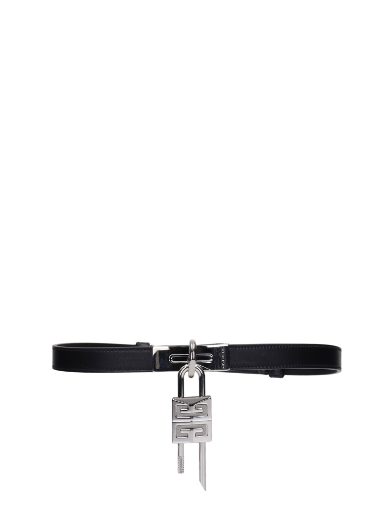 Givenchy Turnlock Belts In Black Leather - black