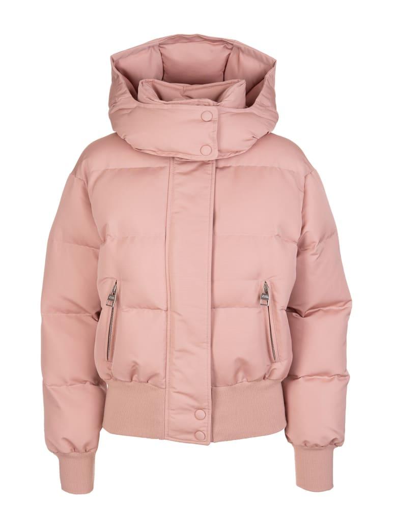 Alexander McQueen Woman Pink Mcqueen Graffiti Down Jacket - Rosa