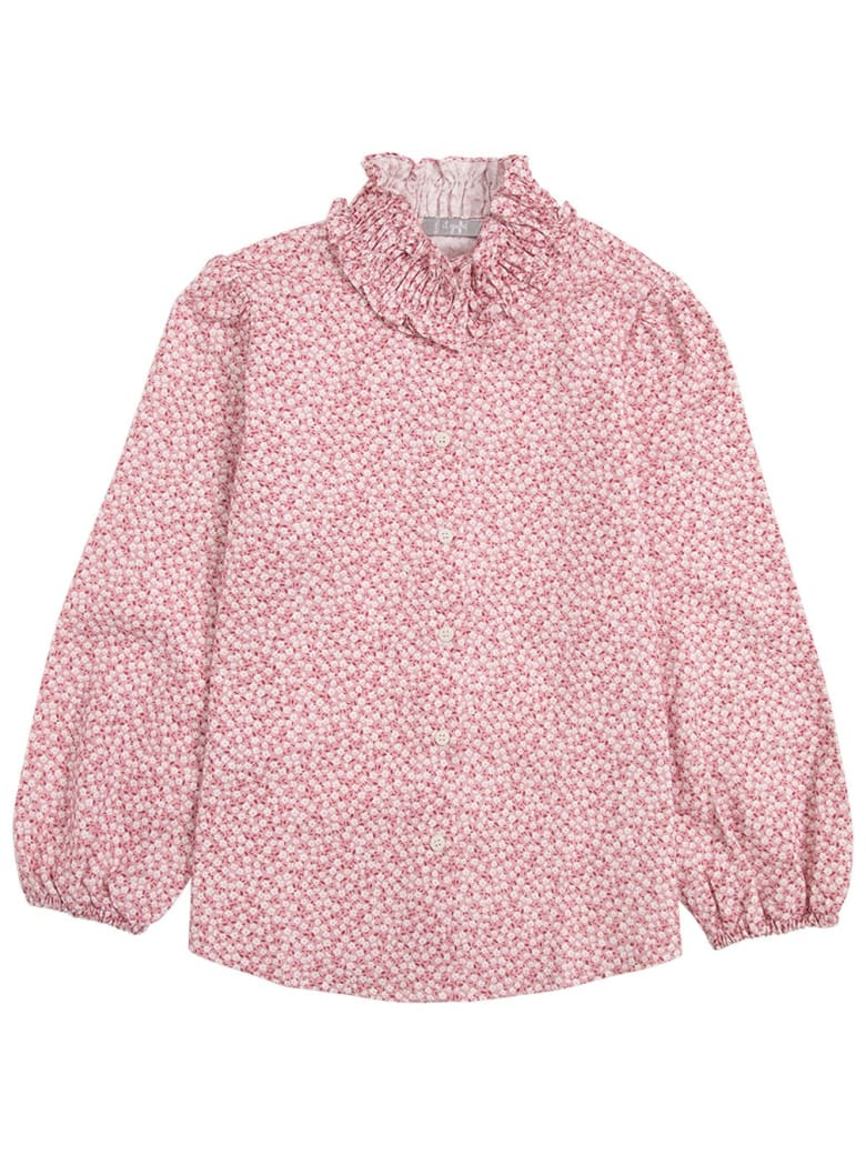 Il Gufo Organic Cotton Floral Shirt - Pink
