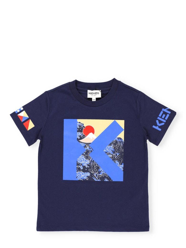 Kenzo Cotton T-shirt - MARINE
