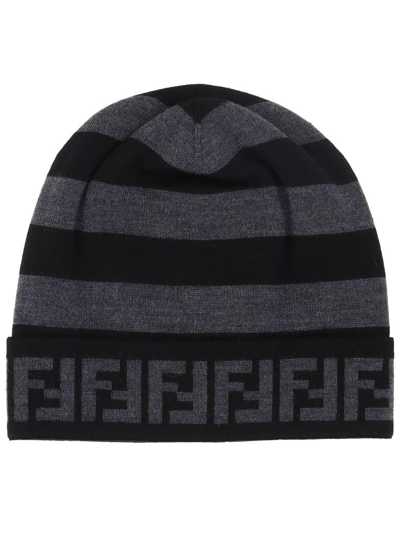 Fendi Hat - Grigio nero bianco