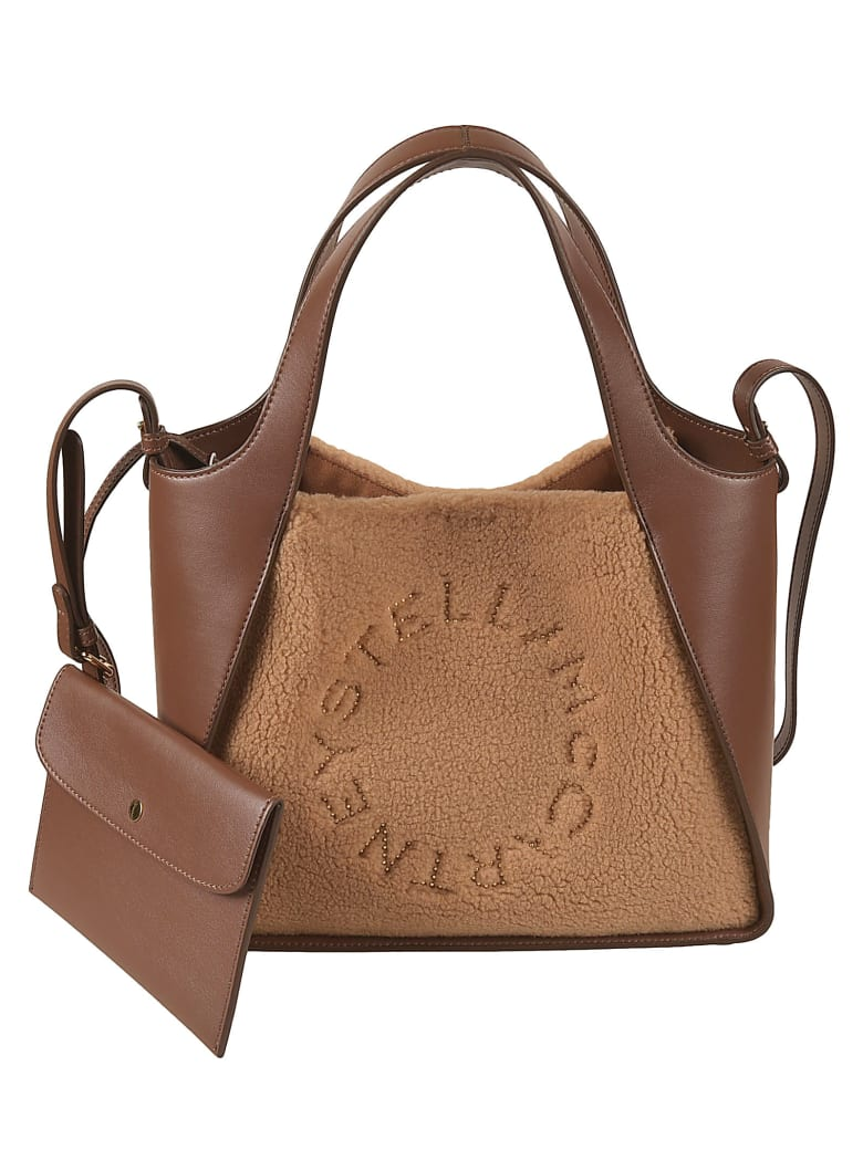 Stella McCartney Studded Logo Tote - Biscuit