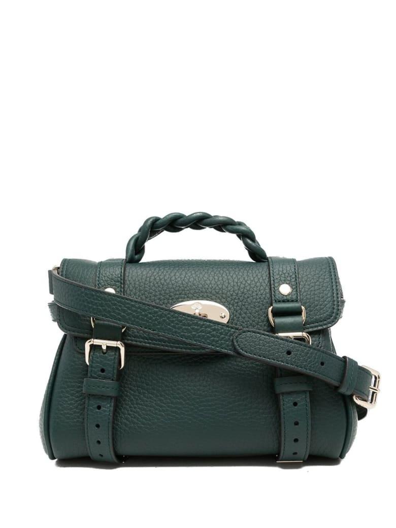 Mulberry Mini Alexa Green Leather Crossbody Bag - Green