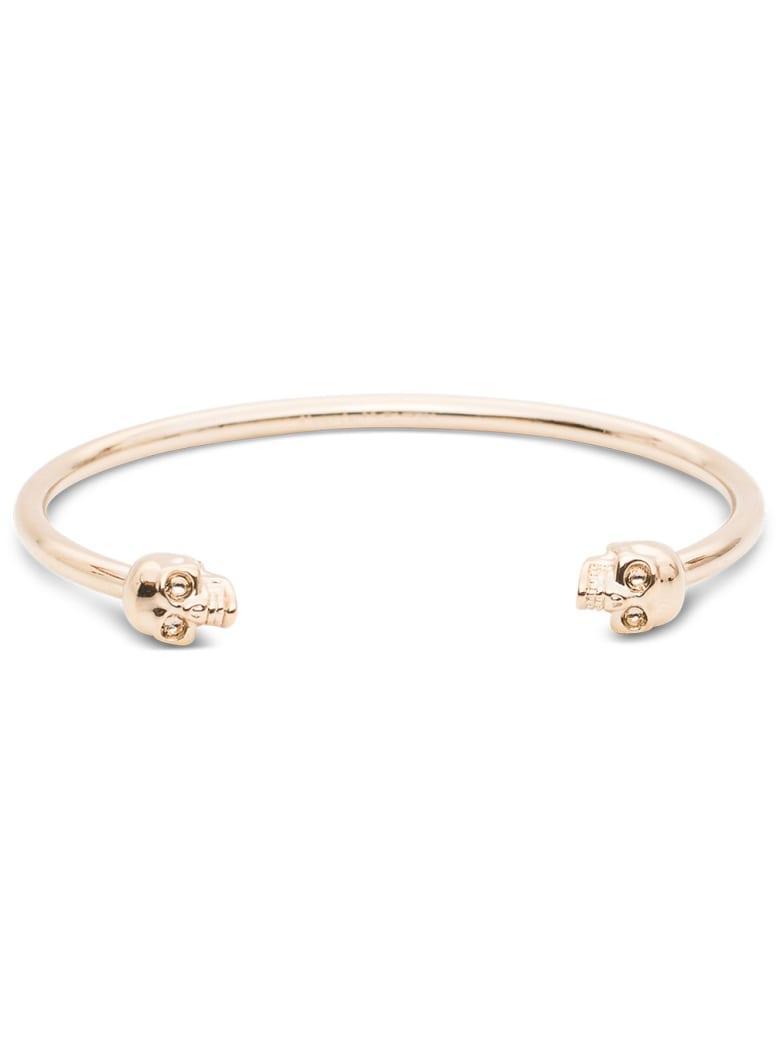 Alexander McQueen Twin Skull Bracelet - Metallic