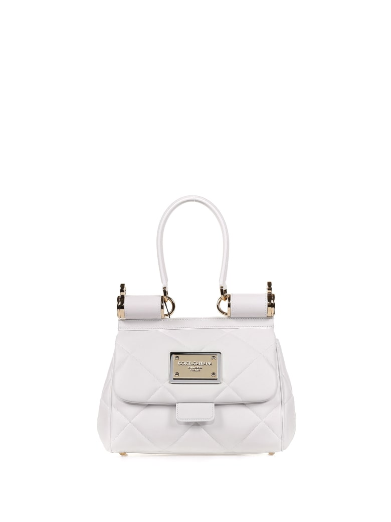 Dolce & Gabbana White Leather Handbag - BIANCO OTTICO